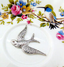 SILVER SOARING BIRD Stamping ~ Victorian Antique Silver Findings (E-892) `