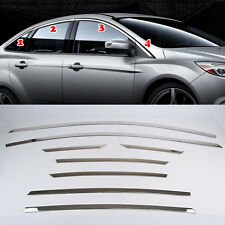 Fit For 12- Ford Focus Mk3 Chrome Upper Side Door Window Sill Molding Cover Trim