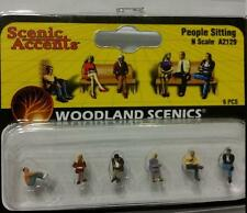Woodland Scenics Figures People Sitting N Scale Model Trains Diorama A2129 #2129