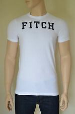 "NEW Abercrombie & Fitch Railroad Notch White ""FITCH"" Tee T-Shirt XL"
