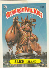 """1986 TOPPS GARBAGE PAIL KIDS SERIES 3  #113a  """"ALICE ISLAND"""", WANTED  -NM/MT"""