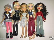 Lot of 5 BRATZ Dolls Fully Clothed With Feet or Shoes