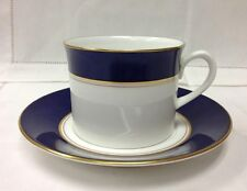 "ROYAL WORCESTER ""VENTURA COBALT BLUE"" TEACUP & SAUCER BONE CHINA NEW"