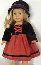 """Dress & Hat SET for American Girl Dolls 18"""" Clothes"""