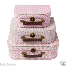 3 Spring Retro Daisy Suitcases - Storage Boxes Box Bedroom Wedding Gift Suitcase