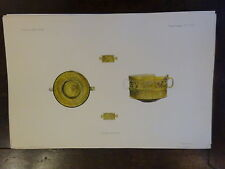 Antique Lithograph Froehner Wilhelm 1903 Ancient Glass Archaeology RARE PRINT 8