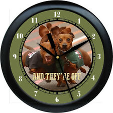 "Personalized They're Off Dachshund 10.75"" Wall Clock Dog Pet Gift  Vetranarian"