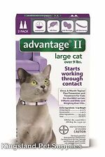 Advantage II for Large Cats (Above 9 lbs, 2 Month Supply) USA EPA APPROVED