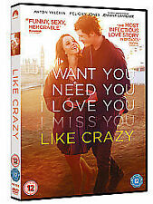 Like Crazy [DVD] NEW SEALED FREEPOST