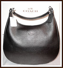 NWT $425 Coach Large Metallic Leather Harley Hobo Shoulder Bag GUNMETAL RECEIPT