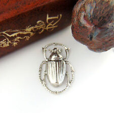 SILVER Egyptian Bug Scarab Beetle Stamping ~ Antique Silver Finding (C-408) `