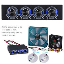 """3.5"""" 4 Channel Speed Computer CPU Fan Controller w/ Blue LED GDT Temp Controller"""