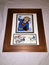 Framed SuperGirl USPS USA39 Matted Stamp Art 1st Day of Issue July 2006 *RARE*