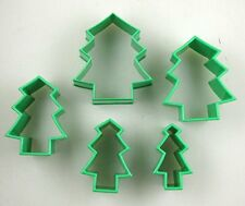 Home-X Christmas Tree Cookie Cutters - Set of 5 (Green), New, Free Shipping