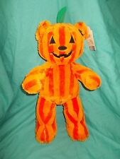 "Build a Bear 16""  Bear-o-Lantern Halloween Orange Pumpkin Haunted Workshop 2016"