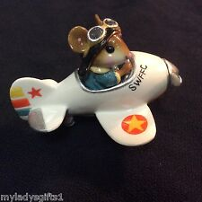 WEE FOREST FOLK MOUSE SOCIAL WHITE  PEDAL PLANE BLUE SUIT AND WHEELS ONLY 50