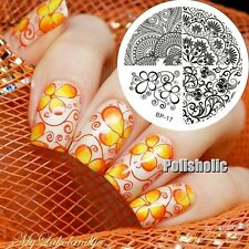 Elegant Flower Nail Art Stamp Template Image Stamping Plate BORN PRETTY 17