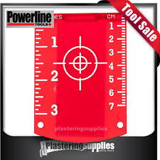 Red Laser Target Magnetic Use with all Lasers PLS Powerline Topcon Dewalt