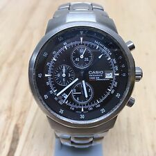 Casio Occenus OC-500 100m Analog Quartz Alarm Chronograph Watch Hour~New Battery