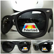 Men or Women CLASSIC VINTAGE RETRO Style POLARIZED SUN GLASSES Matte Black Frame