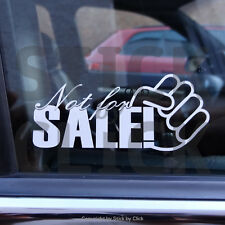 NOT FOR SALE Aufkleber JDM DUB OEM VAG Tickethalter sticker nicht zu verkaufen