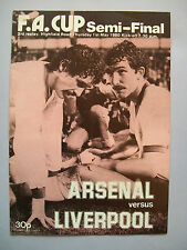 1980 FA Cup semi-final Arsenal v Liverpool 3rd Replay programme in superb con.