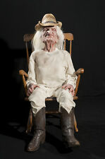 Halloween LifeSize Animated CROTCHETY ROCKING GRANDPA Prop Haunted House NEW