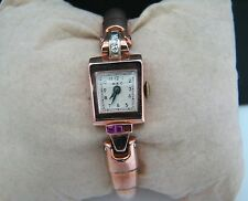 Gorgeous Vintage Women's 14k Rose Gold Croton Watch with Diamonds & Ruby