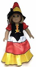 "Halloween Candy Corn Witch & Hat Costume made for 18"" American Girl Doll Clothes"
