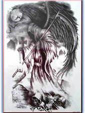 3D IMPERMEABILE Body Art Tatuaggio Temporaneo GRANDI FOGLI 22x12cm