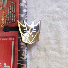 3D Transformers Decepticon Chrome Badge / Sticker For Car Bike - Black