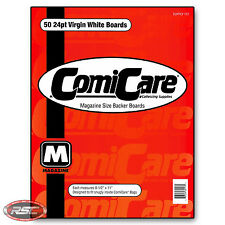"50 - ComiCare MAGAZINE 24pt Virgin White Backer Boards 8-1/2"" x 11"""