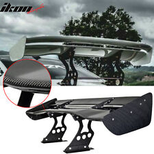 62 Inch JDM GT Racing Real Carbon Fiber CF Light Double Deck Trunk Spoiler Wing