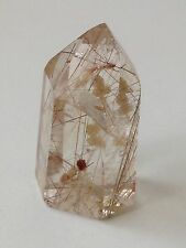 Beautiful Rutile Point Quartz Crystal (29.5g)