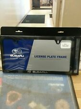 GENUINE SUBARU SLIM LINE BLACK LICENSE PLATE FRAME FITS ALL MODELS SOA342L153