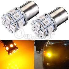 2 x Lampada P21W 382 1156 BA15s 5050 LED 13 SMD Tail Indicator Yellow Amber 12V