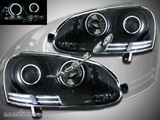 06-09 VW GTI//Rabbit/Jetta Black Housing CCFL Halo LED Projector Headlights