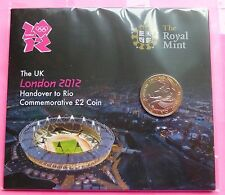 2012 ROYAL MINT OLYMPIC HANDOVER TO RIO  BU £2 TWO POUND COIN  IN GIFT PACK