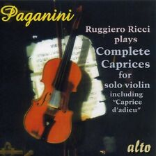 Complete Caprices For Solo 6 - N. Paganini (2010, CD NIEUW) Ricci (VN)