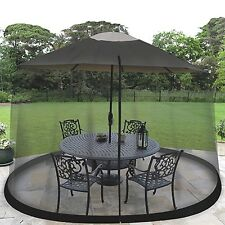 9' Outdoor Umbrella Table Screen Black. Mosquito Bug Insect Pest Net Patio Cover