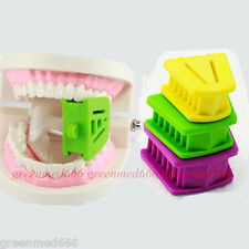 Dental 3PCS/1set Silicone Latex Mouth Prop Bite Blocks Purple Green Yellow