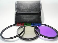72mm 72 UV + CPL + FLD Filter Kit set Polarizer Fluorescent for Canon Nikon Sony