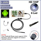 1/3/5m 5.5/7mm Android USB Endoscope Waterproof Borescope Inspection Camera 6LED