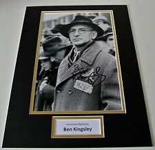 Ben Kingsley SIGNED autograph 16x12 photo mount display Schindlers List Film COA