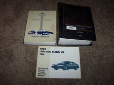1992 Lincoln Mark VII 7 Workshop Shop Service Repair Manual Set LSC 5.0L V8