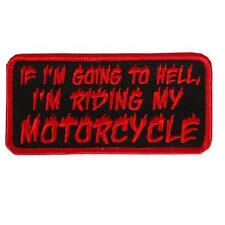 Going To Hell  EMBROIDERED 4 INCH IRON ON MC  FUNNY BIKER  PATCH
