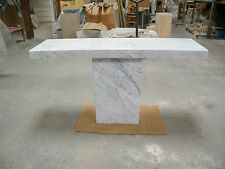 Genuine CARRARA white marble hall table/console table