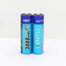 2pcs/lot 1.5V AA 3000mWh Lithium AA  ion polymer Rechargeble  Camera AA Battery