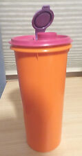 Vtg Tupperware Orange Handolier #262 1qt Pitcher w/Pink & Purple Fliptop Lid#603