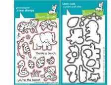 Lawn Fawn Photopolymer Clear Stamp & Die Combo- CRITTERS IN THE JUNGLE~LF803,804